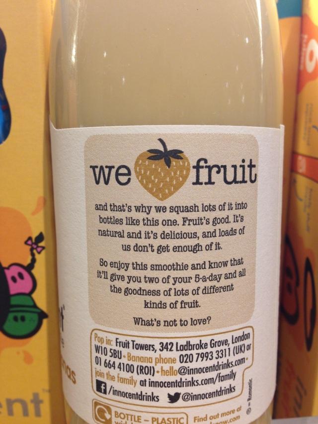 innocent smoothie label